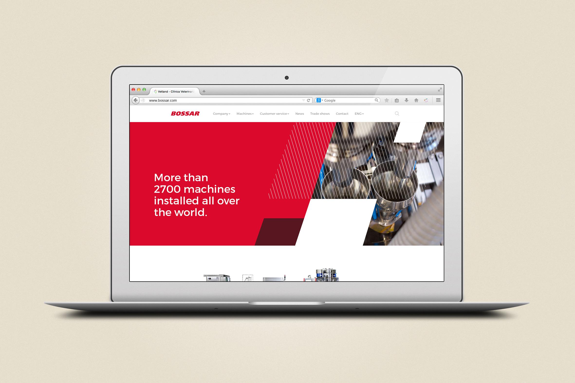 Diseño Home web corporativa responsiva Bossar Packaging