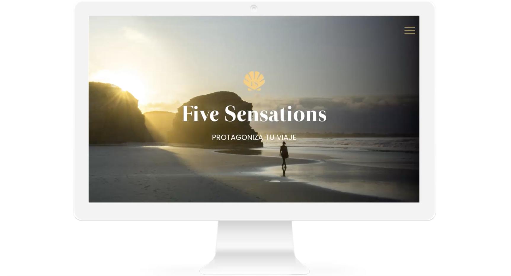 Five Sensations agencia viajes lujo diseño web