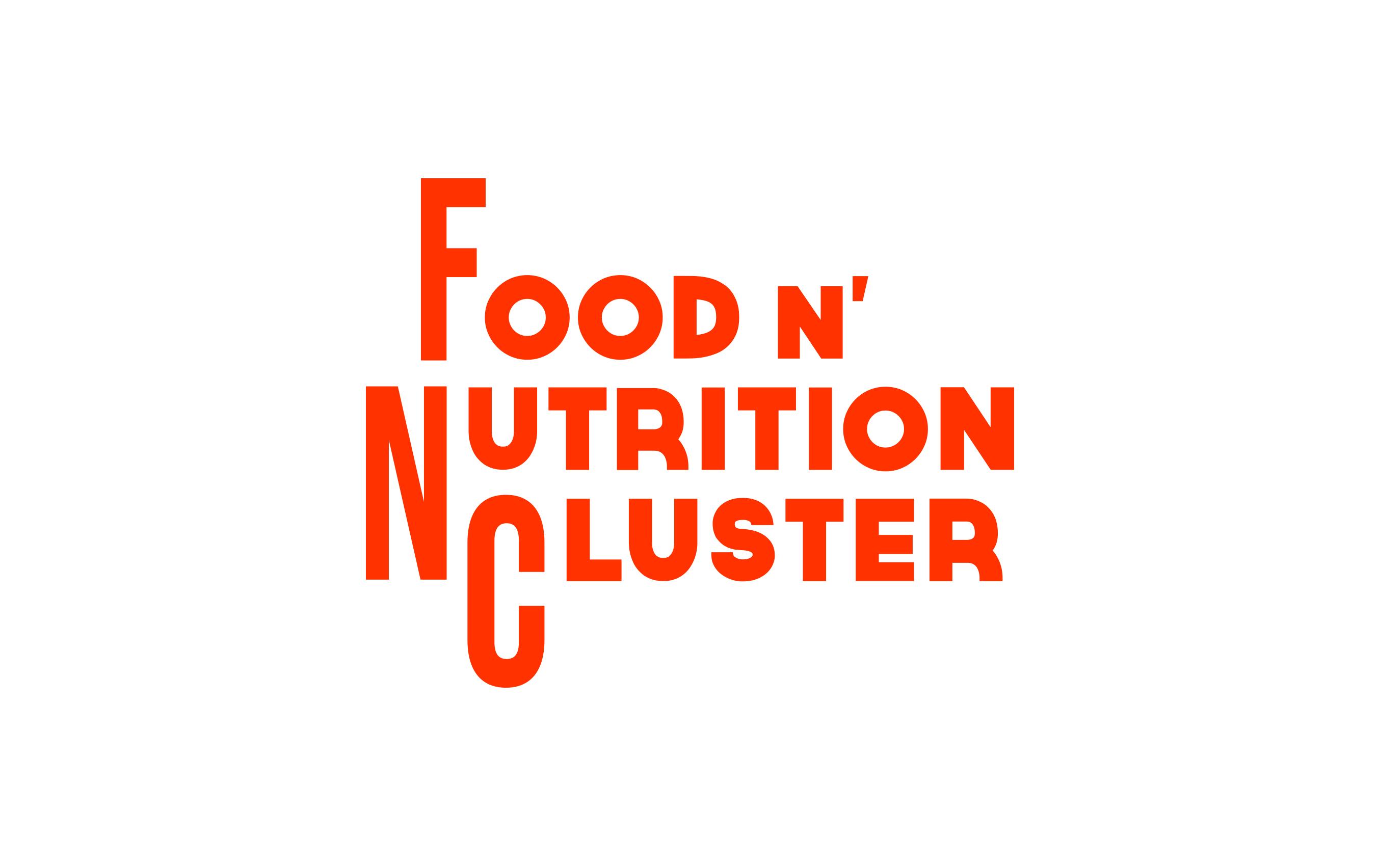 diseño logo alimentación nutrición Food & Nutrition Cluster