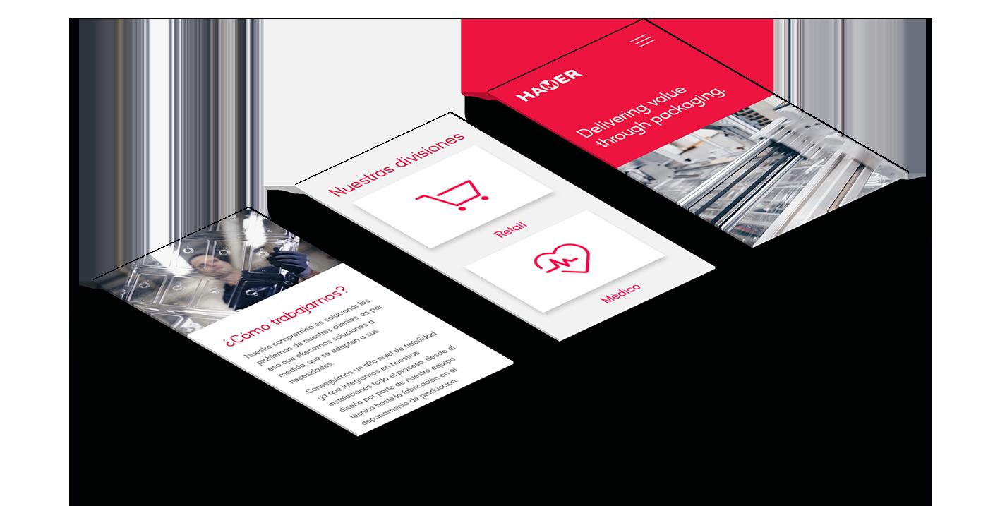 Diseño web ingeniería industrial Hamer packaging
