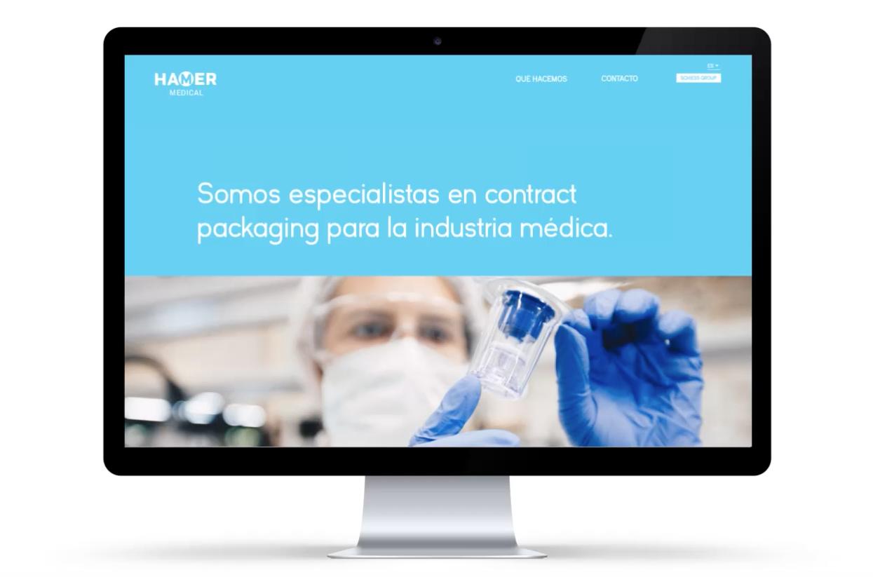 Diseño web industria médica barcelona