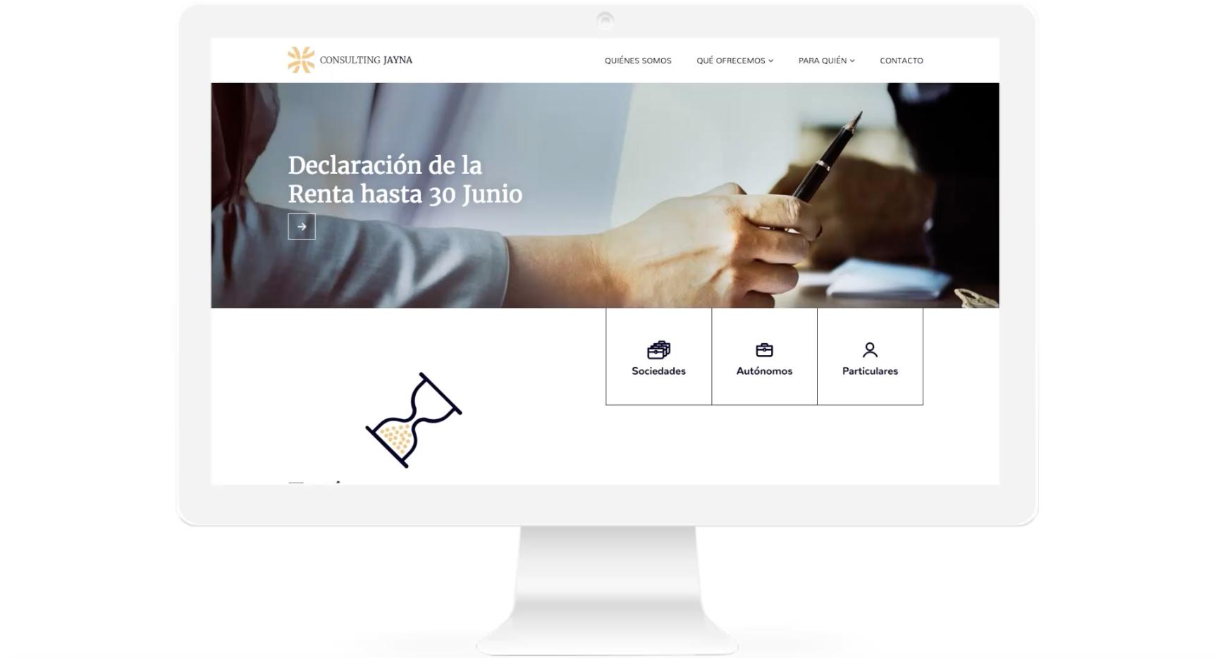 Diseño web asesoría fiscal contable Jayna