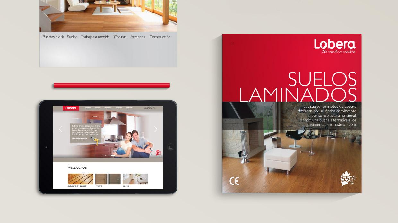 Diseño catálogo productos maderas Lobera
