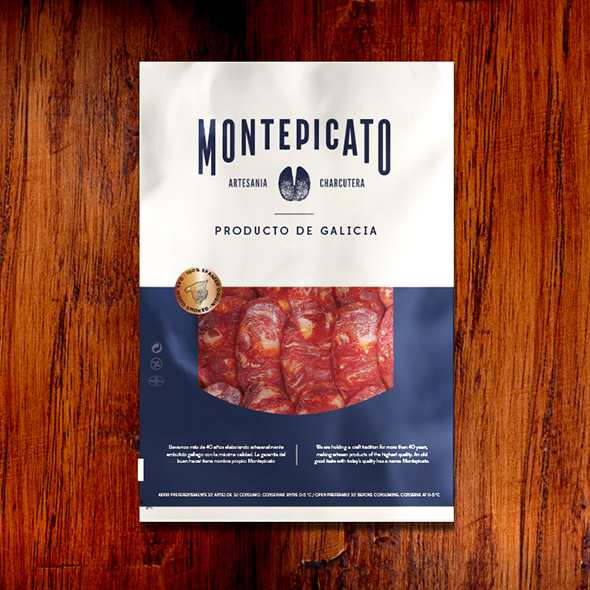 Diseño packaging embutidos Montepicato loncheados