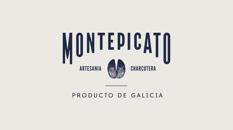 Diseño marca embutidos Montepicato