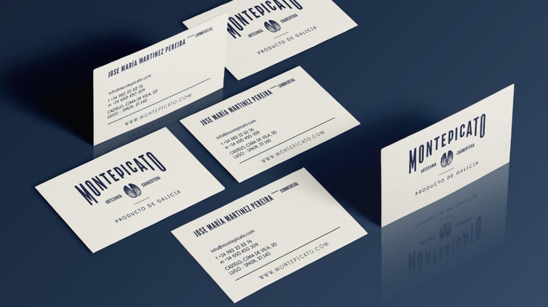 Diseño tarjeta embutidos loncheados Montepicato