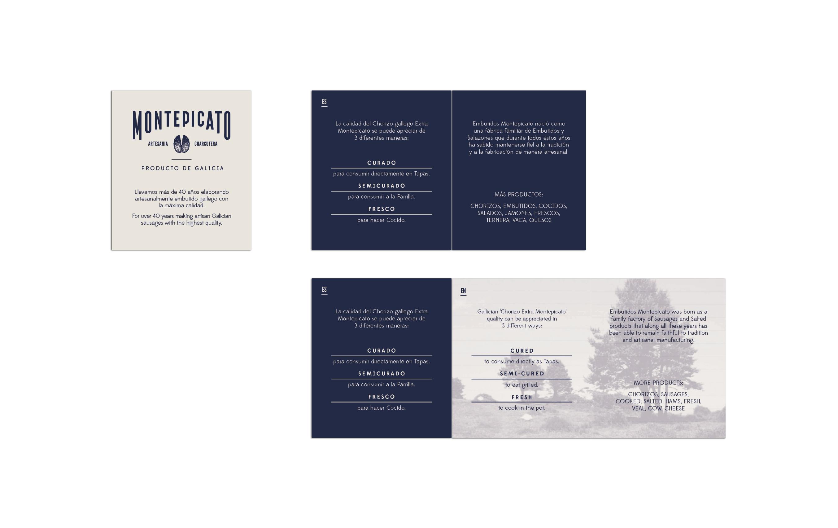 Diseño etiquetas embutidos Montepicato