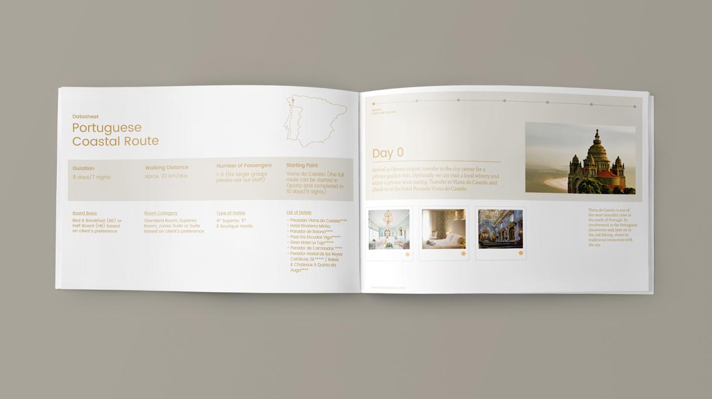 diseño catálogo agencia viajes lujo Five Sensations Santiago_de_Compostela