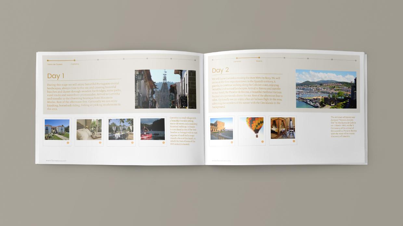 diseño catálogo agencia viajes luxury Five Sensations Santiago_de_Compostela