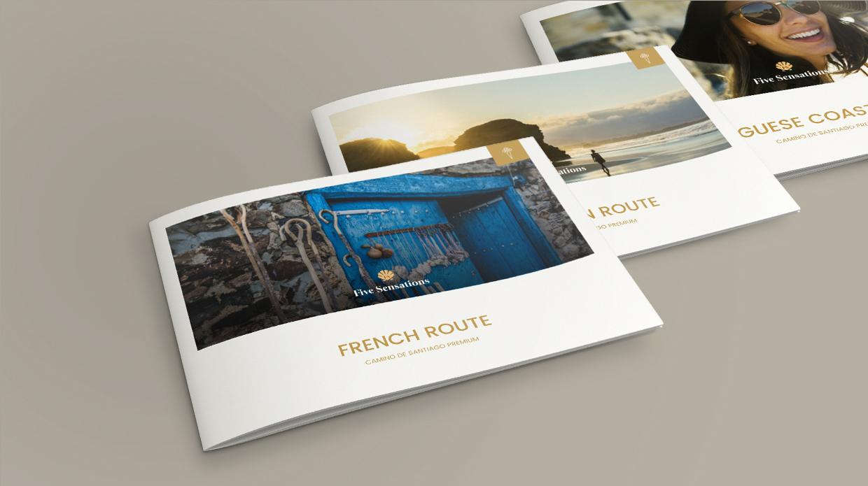 diseño catálogo agencia viajes premium Five Sensations Santiago_de_Compostela