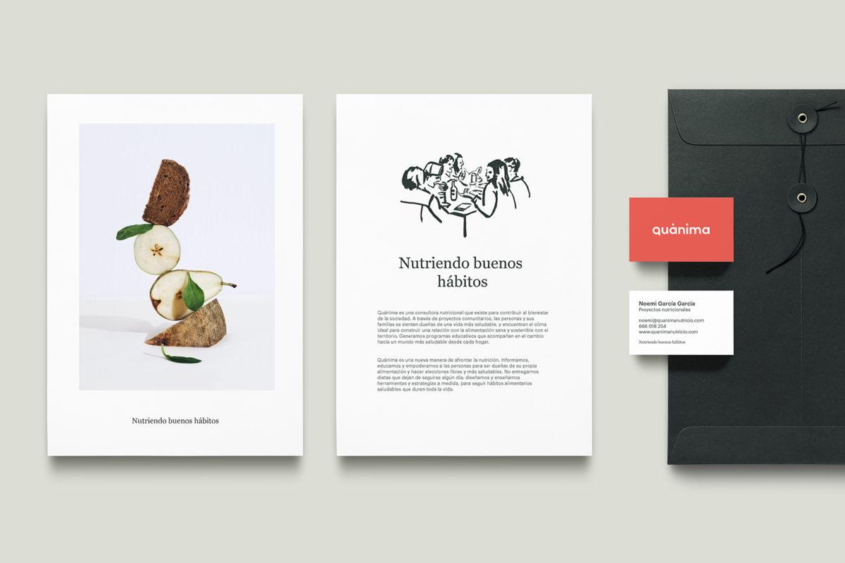 Diseño gráfico tarjeta empresa nutrición Menorca Barcelona