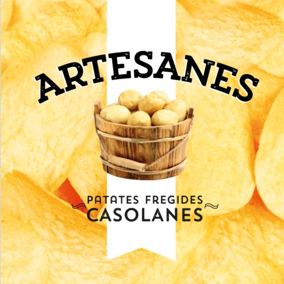 Diseño packaging patatas fritas artesanas marca blanca Sorli Discau