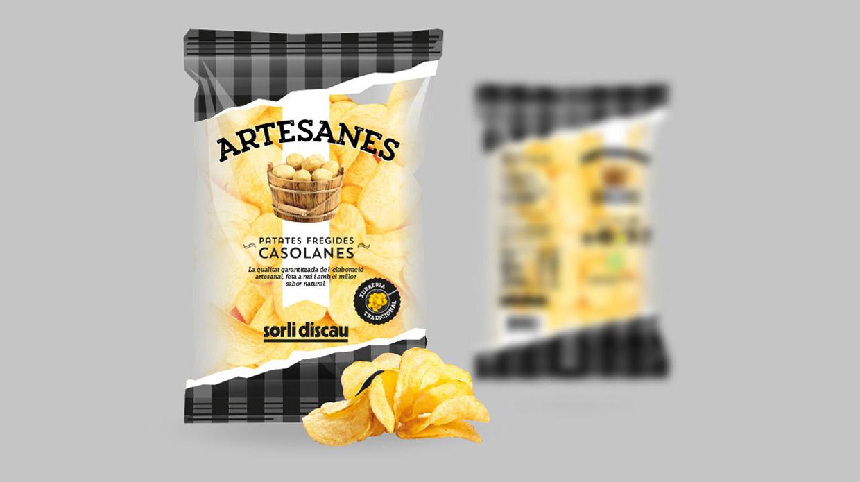 Diseño packaging Patatas Fritas Sorli