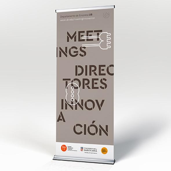 Diseño rollup meeting innovación UB
