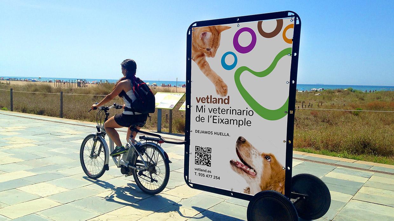 Diseño publicidad clínica veterinaria Vetland